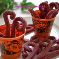 怪しげなスティックがハロウィンにピッタリ☆米粉で作る紫芋のチュロス