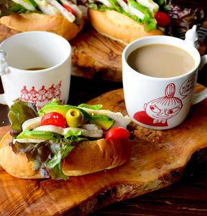 あら素敵♥3分DEお家カフェ♥ヘルシー サラダチキンサンド【*切れてる *冷凍食品 *常備】