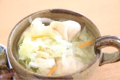 エスニック?カサ増し水餃子スープ