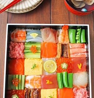 話題のカラフルモザイク寿司♪