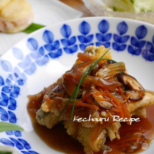 ほっこり和風おかず「白身魚の衣揚げ たっぷり野菜あんかけ」、お義兄さんの結婚式。