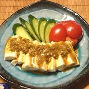 豆腐のバンバンジー風