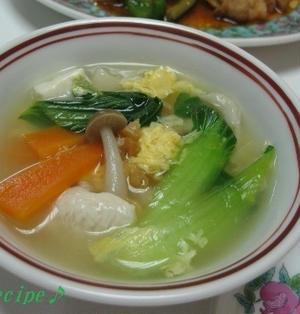 干しエビと青梗菜の中華スープ