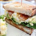 スパイス海老入り!アボカド&卵サンド