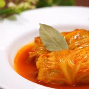 トマトベースのロールキャベツ
