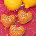 ハート型のレモンケーキ