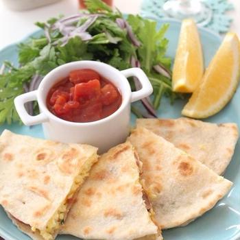 手作りトルティーヤでメキシカンな朝食ケサディラ