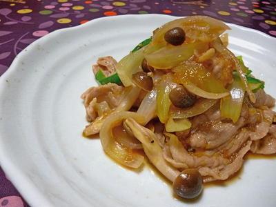 豚肉のオニオンガーリック焼き