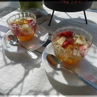 ミント風味のフルーツゼリー