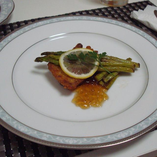 カジキのソテーとかぶのポン酢ジュレ詰め(Sautéed Billfish and Steamed Turnip with Ponzu Filling)