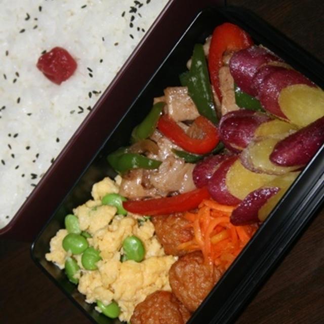 8月4日  豚肉と ピーマン炒め弁当(練習)