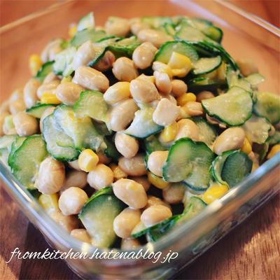 手軽で栄養たっぷりの大豆サラダ レシピあり