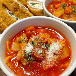 簡単!「トマトジュース」で野菜たっぷりミネストローネ