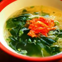 ねぎ塩スープで スパイシー冷麺