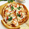 トムヤムクンのピザ+いかプラス♪