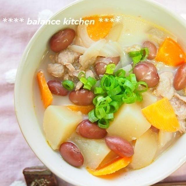 日本人に不足しがちな栄養素を補給!金時豆入りコク旨豚汁