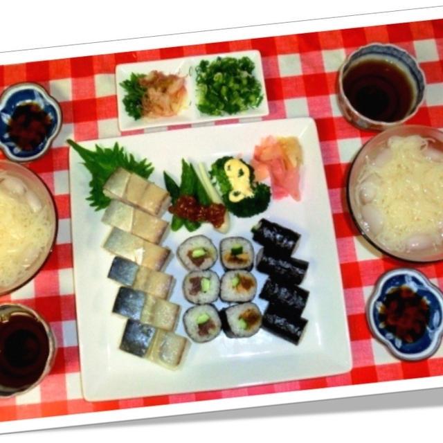 手抜き 京樽と素麺で晩ご飯