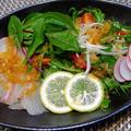 『鯛のカルパッチョ 涼感サラダ仕立て』&香味ドレッシングレシピ☆ by 自宅料理人ひぃろさん