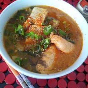 美味ー!!ピリカラの韓国スープ♪♪アルチゲ
