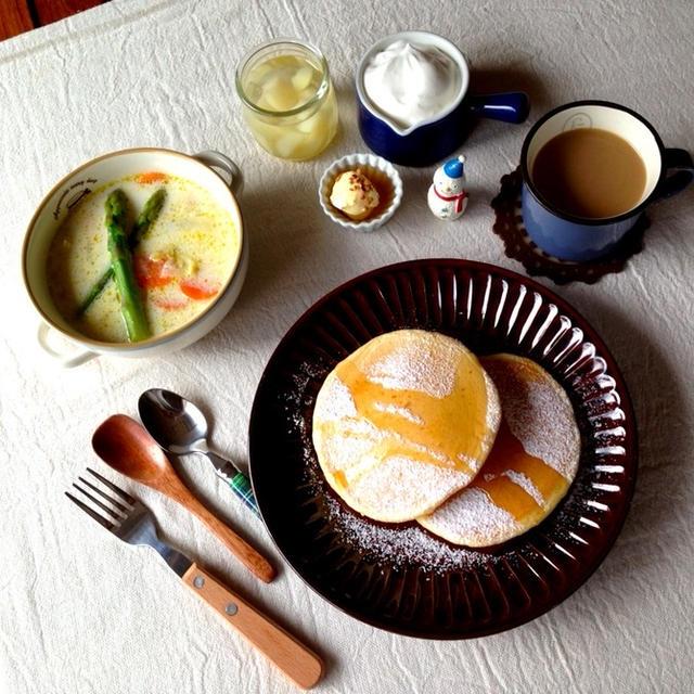 混ぜるだけ!無添加パンケーキで朝ごはん♡インスタ始めました。