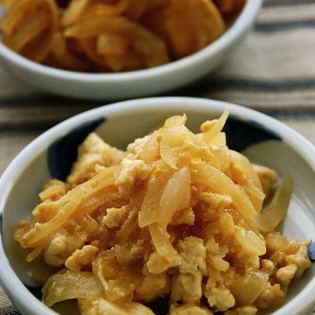 玉ねぎ豆腐のコトコト味噌煮