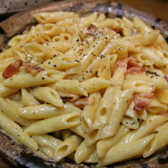 ペンネのカルボナーラ/耐火皿料理