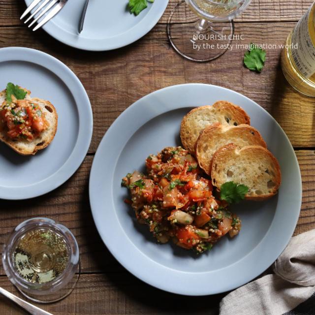 キムチと三つ葉de海鮮タブレ風サラダ
