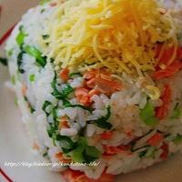 鮭と蕪菜のチーズ押し寿司@ミツカン