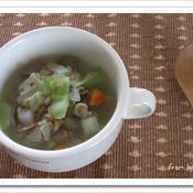 たっぷり根菜のスープ
