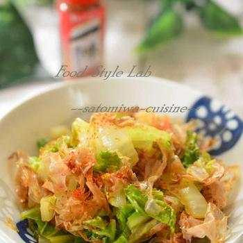 ピリ旨!白菜のおかか炒めが簡単で美味しくて減塩☆