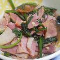 焼豚とほうれん草のオイスターソース煮