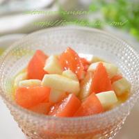 コレステロールを下げる!トマトと長芋の食べるスープ♪