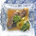 涼味〜うなぎと素麺に合って簡単ボリューミィ!ごま油で旨いナスとチンゲンサイの煮浸し。