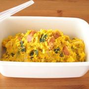 常備菜作り♪ かぼちゃとソーセージのサラダ。