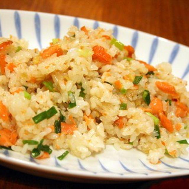 鮭と明太子と生姜のさっぱりチャーハン