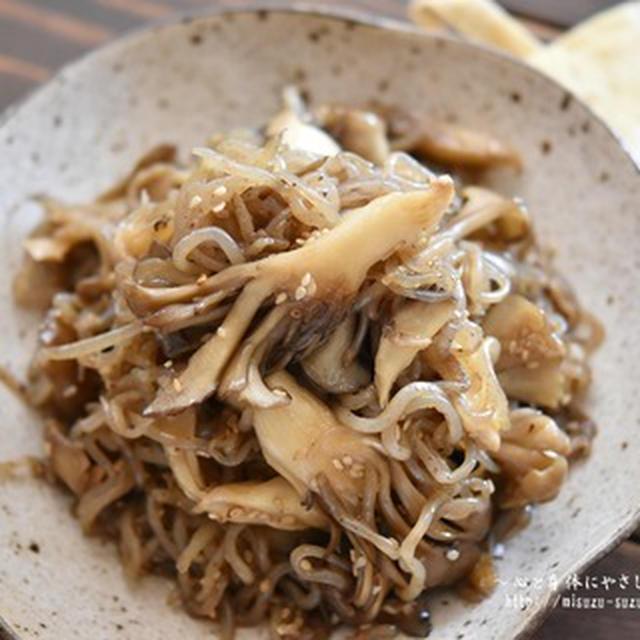 【レシピ・作り置き・お弁当おかず・副菜】糸こんにゃくと舞茸の甘辛炒め