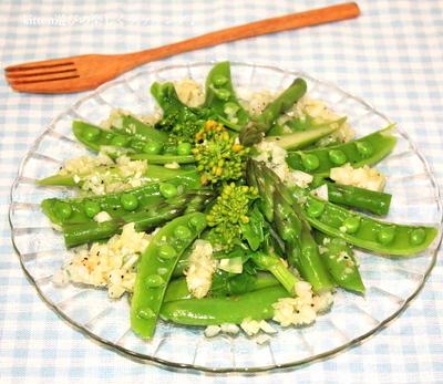 スナック!?スナップ!? 春野菜を食べよう♪スナップエンドウとアスパラのサラダ