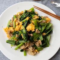 【レシピ】小松菜と豚肉の醤油炒め
