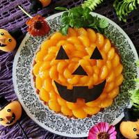 レシピ*ハロウィンのみかんバナナカスタードタルト・大きなおばけかぼちゃ!ジャック・オ・ランタン