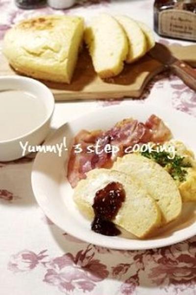 ホットケーキ感覚で作れちゃう!黄金色のぐるぐるまぜまぜ卵パン。
