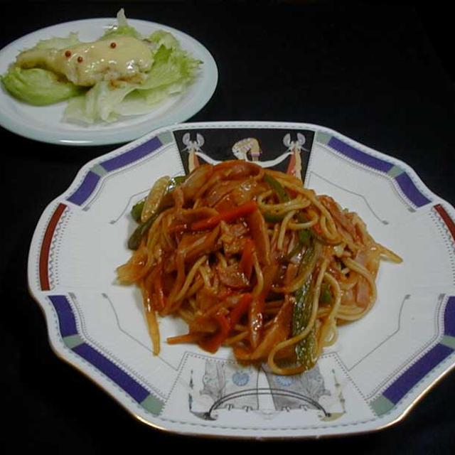 鱈の味噌マヨ焼き&トマトソースパスタ
