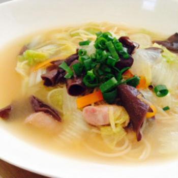 【マ・マー早ゆでパスタモニター】白菜の中華スープパスタ【ラーメン?】