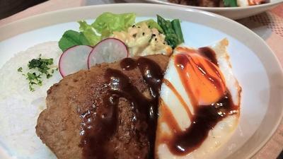 【レシピ】子供喜ぶ★ハンバーグ★ランチ【ロコモコ風】
