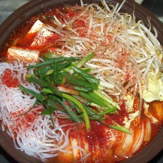 ヤンニョンジャンで韓国うま辛鍋