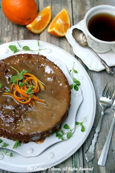 Totally Orange Allspice Cake with Brown Sugar Glaze丸ごとオレンジ入り!オレンジスパイスケーキ