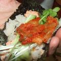 鮭のまぜご飯を手巻きで&潮汁