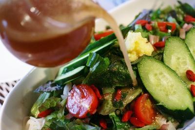 【薬膳鴨だしの冷そうめん】お野菜たっぷり!爽やかおろしレモン仕立てです。