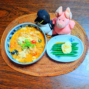 酸辣湯の卵雑炊