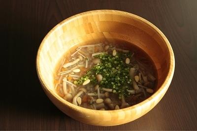 【朝食または20時以降の夕食にも】白菜ときのこの雑穀米スープ(白米・玄米・冷やご飯でも可)