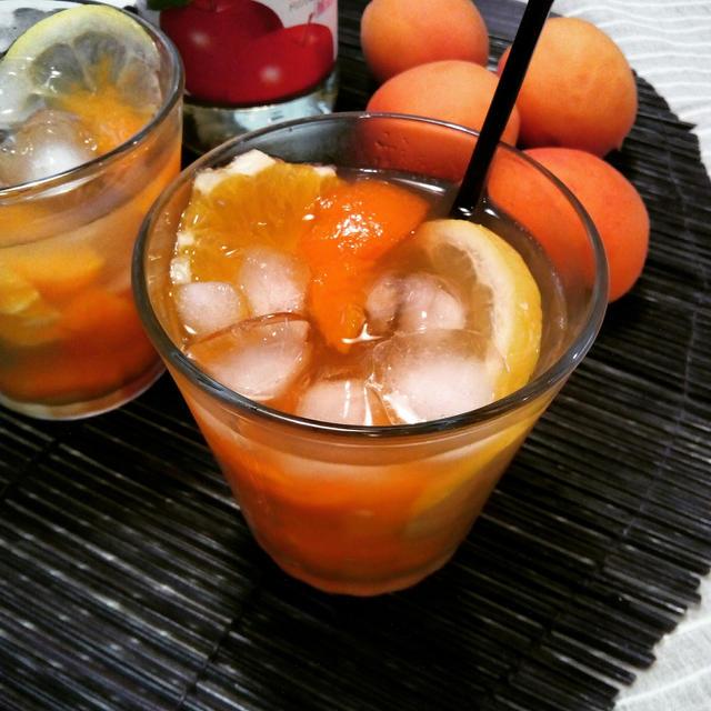 杏とシトラスのフルーツビネガーウォーター